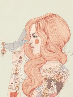 Tattooed girl / liz clements