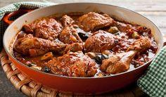 Chicken Cacciatore - In the Kitchen with Stefano Faita serve with mixed mushroom polenta from Stefano Faita