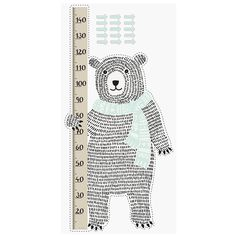 Bear Measure Wall Sticker, Bloomingville