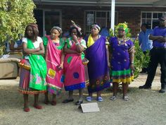 Some of the women dressed in Tsonga traditional attires celebrated Heritage Day Casual Dresses For Women, Casual Outfits, West Africa, South Africa, Africa People, Luxury Dress, African Women, Pedi, Xhosa