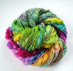 Handspun, merino, silk. Beautiful art yarn!