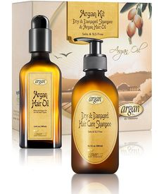 Dry Damaged Shampoo and Argan Oil kit - Moroccan Salt Free Hair Clarifying Shampoo 10.1 oz and Argan Oil Hair Shine Gloss 3.4 oz Set >>> Insider's special review you can't miss. Read more  : essential oils