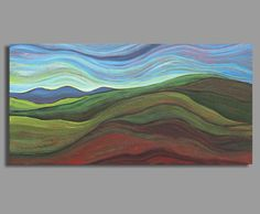 landscape painting abstract painting acrylic by SageMountainStudio