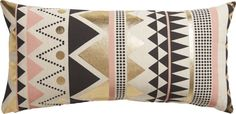 "janey 23""x11"" pillow with down-alternative insert  