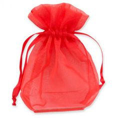 Organza Gift Bags Red