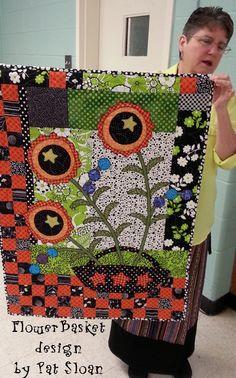 mug rug idea Small Quilts, Mini Quilts, Baby Quilts, Primitive Quilts, Hawaiian Quilts, Flower Quilts, Miniature Quilts, Jellyroll Quilts, Landscape Quilts