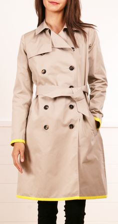 fall is coming: martin grant coat - Love the yellow piping on the sleeves
