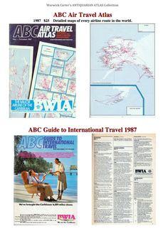 ABC Air Travel Atlas 1987 Abc Guide, Air Travel, Caribbean, Map, World, Books, Libros, Location Map, Book