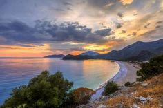 Unmatched sunset in #Oludeniz beach - something to die for :-)