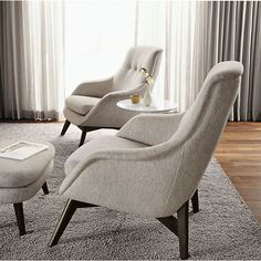 Henrick Chair & Ottoman - Chairs - Living - Room & Board  Like the shape of the chair.