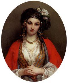 Jean-François Portaels, An Oriental Beauty, (after 1877)