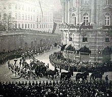 The funeral procession in Vienna, (17 September 1898)