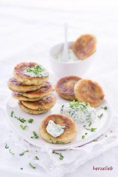 Food - Rezept für Bärlauch-Pfannkuchen mit Bärlauchcreme - Foodblog herzelieb
