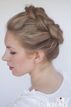Hair Romance - braided crown hairstyle