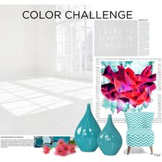 Color Challenge:Fuchsia and Turquoise by pillef on Polyvore featuring interior, interiors, interior design, home, home decor, interior decorating, colorchallenge and fuchsiaandturquoise