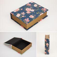 Caixa Livro Rosas Azul 30 x 24 x 8 cm | A Loja do Gato Preto | #alojadogatopreto | #shoponline | referência 70064932