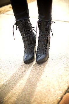 Haider Ackermann Lace Up Elbamatt boots.  *SICK*