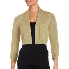 Isolde Roth Orange Plus Size Cropped jersey cardigan ($78 ...