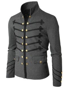 Mens Fashion Jacket with Button Detail GAK08