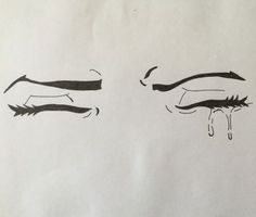 Image result for crying closed eyes drawing
