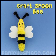 Bee Craft - Craft Spoon Bee from www.daniellesplace.com
