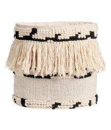 Jacquard-weave Storage Basket | Natural white/black | H&M HOME | H&M US