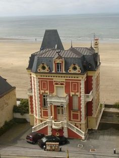 Trouville-sur-Mer, France. Now THIS is a beach house!!!