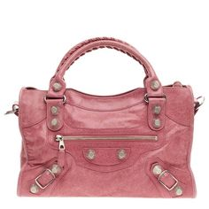 Balenciaga City Giant Studs Leather Medium Pink Satchel. Save 47% on the Balenciaga City Giant Studs Leather Medium Pink Satchel! This satchel is a top 10 member favorite on Tradesy. See how much you can save