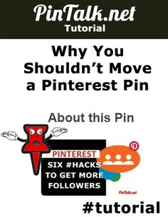 """Why You Shouldn't Move a Pinterest Pin. This means there is an opportunity to spread your products' good reviews around Pinterest Pintalk. Unlike Facebook and Google+ where users must come to your account to read your reviews, Pinners can see the """"Tired It"""" reviews on each repin after the review was left."""