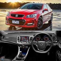 Holden VF Commodore SS-V Redline 2016 Versão esportiva do sedã de grande porte da Holden empresa do grupo GM na Austrália. É um belo exemplo da paixão do país por modelos com motores grandes e com potência de sobra: é equipado com um 6.2 LS3 V8 com 413 cv e 570 Nm de torque. A transmissão é manual de seis marchas com opcional automática. Rodas aro 19 com freios de alta performance Brembo Park Assit Head-up Display e alerta de colisão frontal. Esta é a segunda reestilização da quarta geração… Chevrolet Omega, Chevrolet Ss, General Motors, Pontiac G8, Aussie Muscle Cars, Chevy Ss, Holden Commodore, Redline, Ms Gs