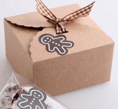 Scatola carta craft, bomboniere o matrimonio kraft box shabby rustic chic wedding (set 50 pcs) di FlowersFavours su Etsy