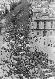 Barcelona 1932. Impressionant imatge aèria de la Manifestació pro Estatut de Catalunya