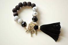 Image of Zebra Charm Bracelet