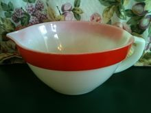 Fire King Colonial Batter Bowl with Red Band
