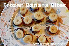 Frozen Banana Bites - Delicious healthy recipe for snack or desserts!