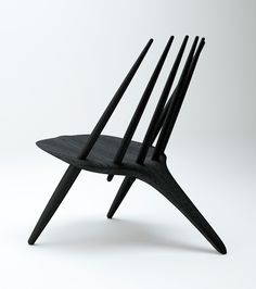 Manta Ray lounge chair in black Ash - Designed by Inoda + Sveje