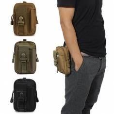 Men's Nylon Waterproof Outdoor Sports Leg Bag Multifunction Hiking Fishing Waist - US$24.01