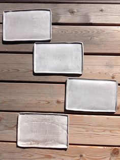Ceramics / Pottery / Plates set / light gray / by Ice Grey (Tokyo)