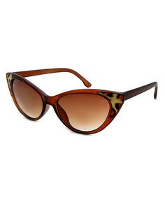 Another great find on #zulily! Brown Leopard Cat-Eye Sunglasses #zulilyfinds