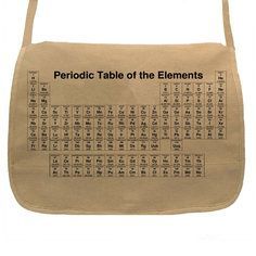 Periodic Table Messenger Tan, $38, now featured on Fab.