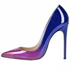 Lovirs Womens Purple-blue Pointed Toe High Heel Slip On Stiletto Pumps Wedding Party Basic Shoes 5 M US