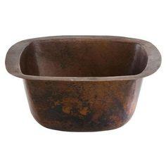Signature Copper  BDC-1205  Lavatory Sink  Fixture  Copper  ;Black Copper