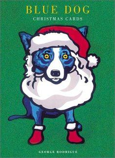 blue dog christmas