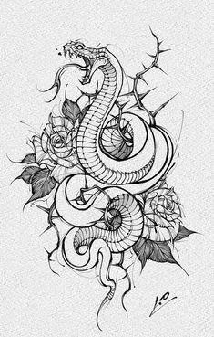 Japanese Snake Tattoo, Japanese Tattoo Designs, Devine Tattoo, Arm Band Tattoo, Leg Tattoos, Aesthetic Tattoo, Tattoo Photography, Japan Tattoo, Tattoo Project