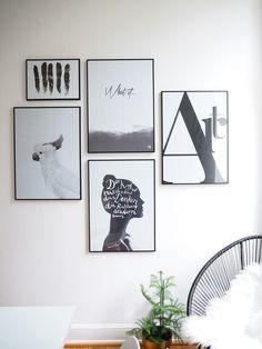 Kunst an den Wänden verändert die Atmosphäre eines Raumes: In meinem neuen Blogbeitrag zeige ich dir, wie du in 6 Schritten eine Gallery Wall umsetzt.
