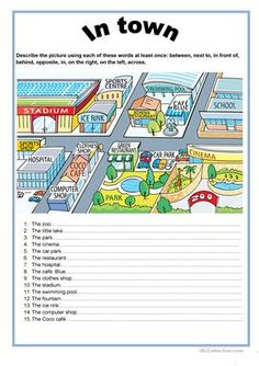 In town - prepositions