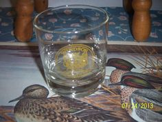 Whiskey Glass Cup Vintage Holiday Souvenir by NAESBARGINBASEMENT, $4.00