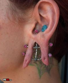 What Makes Cool Unusual Piercings So Addictive That You Never Want To Miss One? Stupid People, Crazy People, Mode Bizarre, Unusual Things, Strange Things, Crazy Things, Strange People, Ugly Things, Random Things