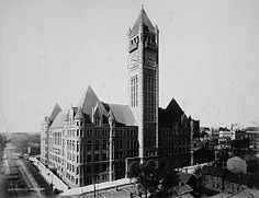 """MINNEAPOLIS City Hall and Hennepin County Courthouse (also known as the """"Municipal Building""""), designed by Long and Kees in 1888, opened in 1906."""