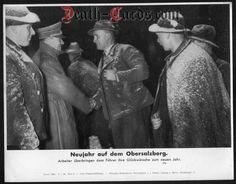 orig. WWII Press Photo - New Year 1939 on the Obersalzberg - Date of publication: Jan.05, 1939